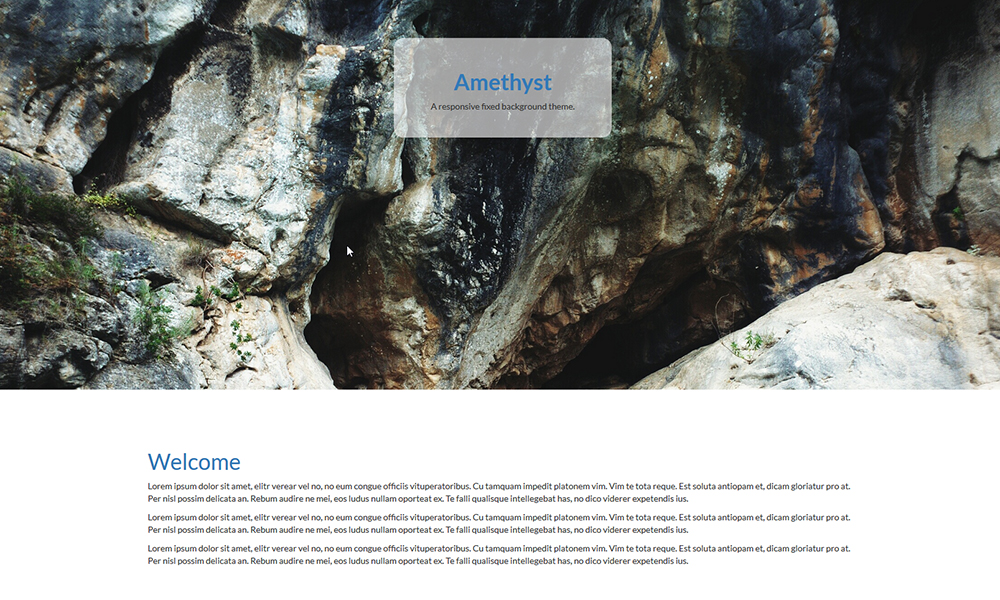 Amethyst Free Bootstrap Theme
