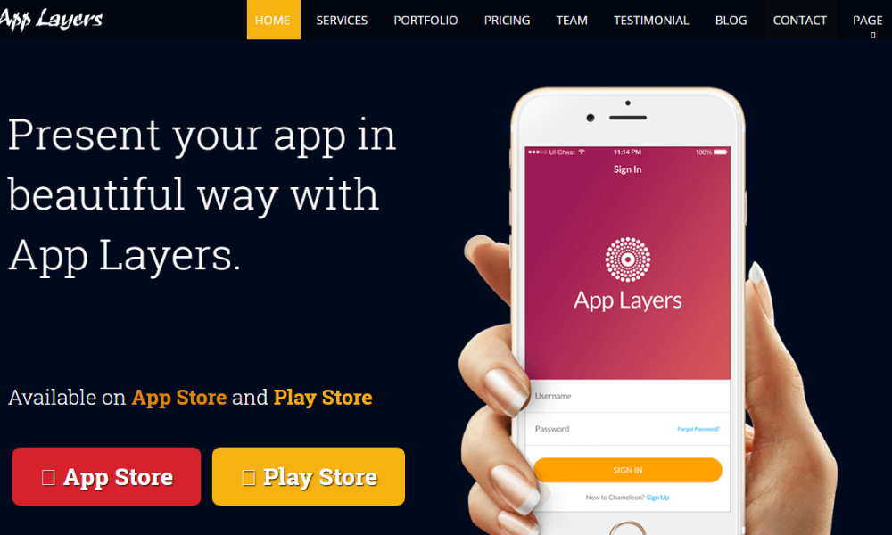 App Layers Free Bootstrap Theme