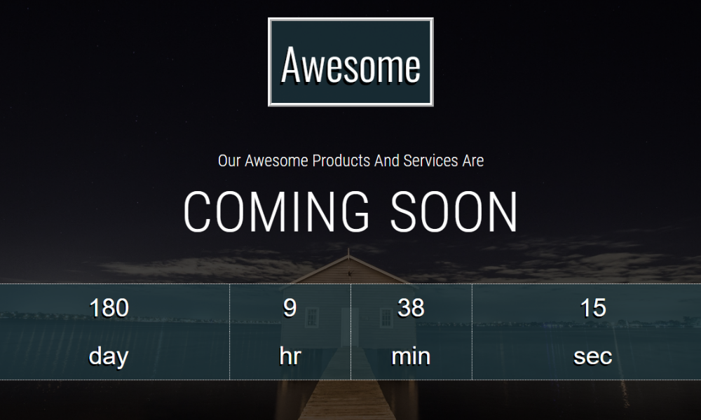 Awesome Free Bootstrap Theme