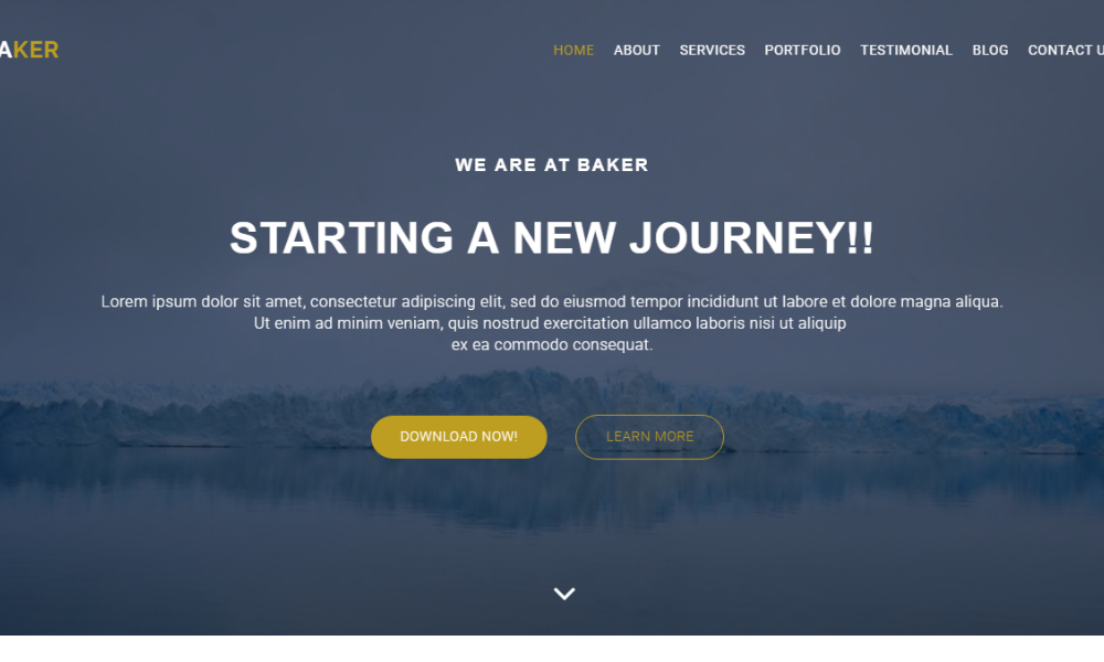 Baker Free Bootstrap Theme