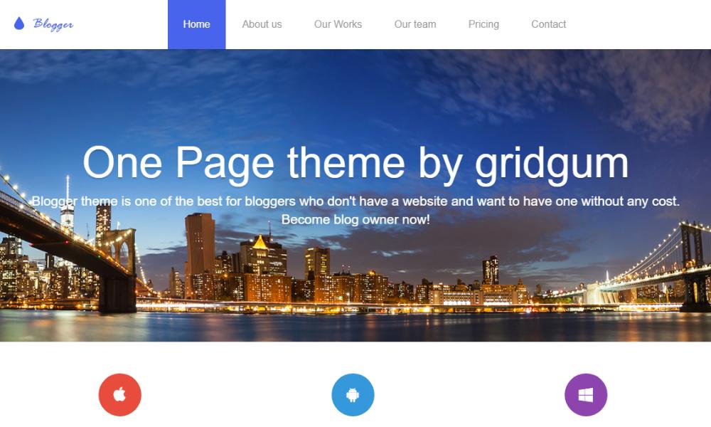 Blogger Bootstrap Theme
