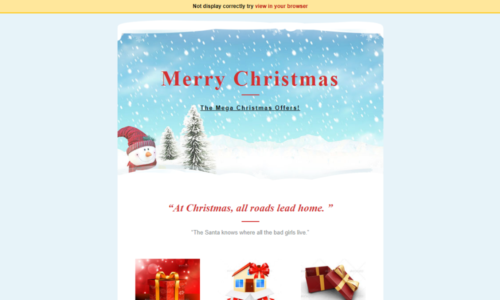 Free Bootstrap Theme - Christmas