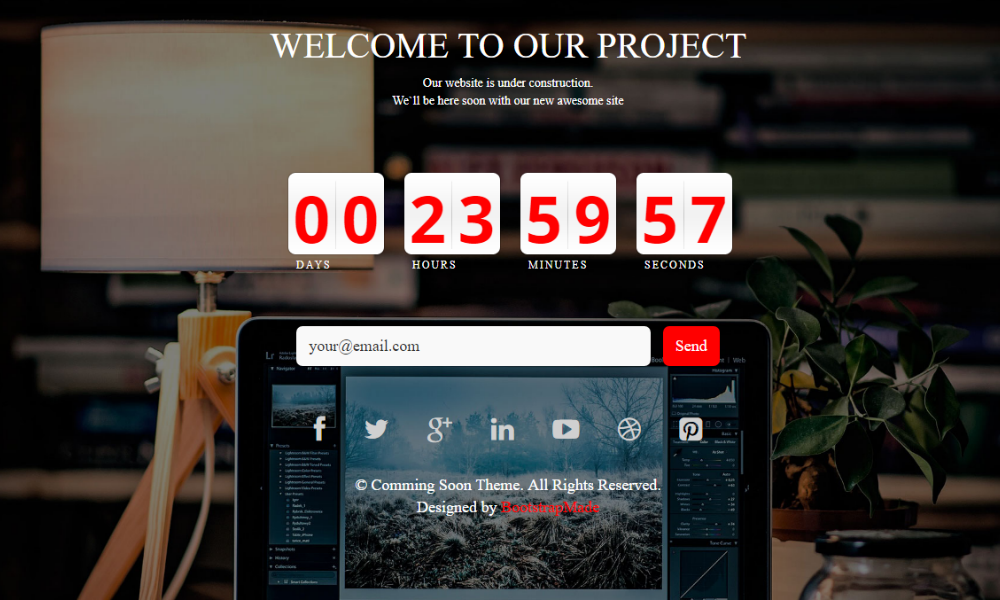 Coming Soon Free Bootstrap Theme