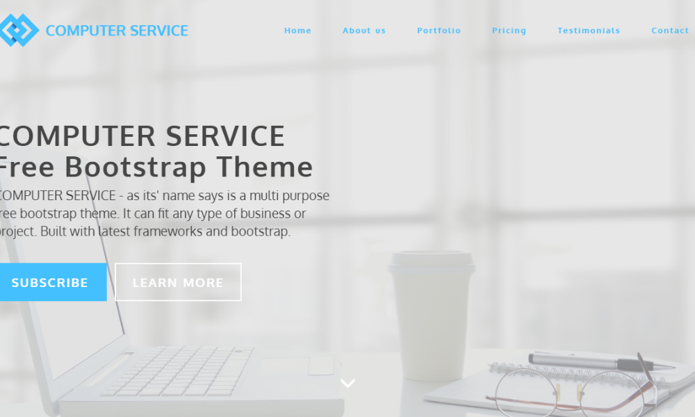 Computer Service Free Bootstrap Theme