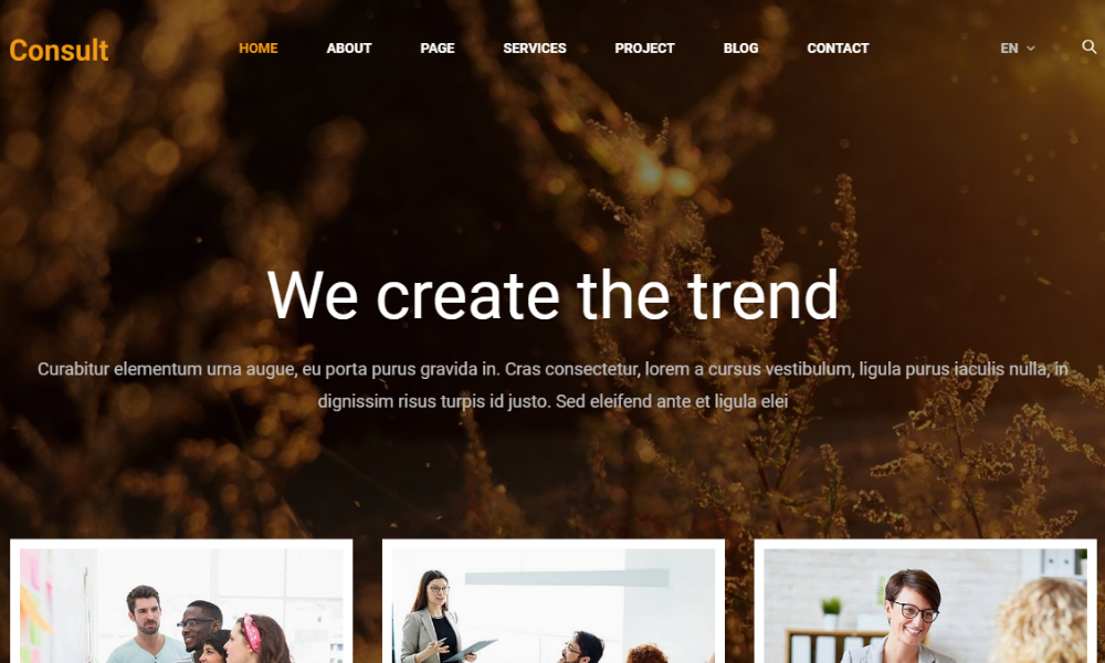 Consult Master Free Bootstrap Theme