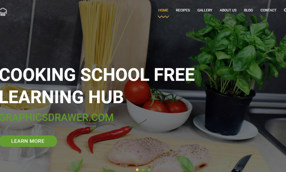 Cooking School Free Bootstrap Theme