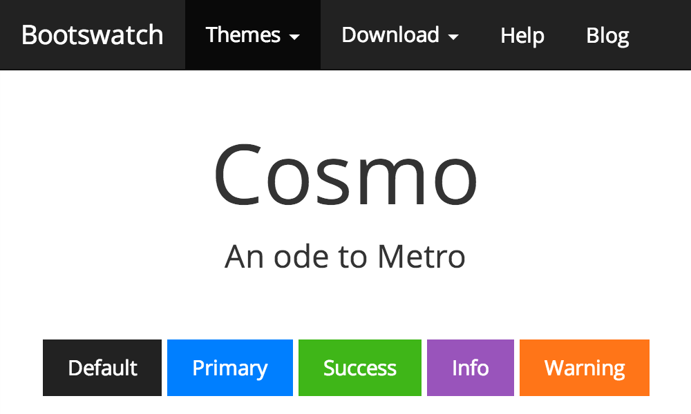 Cosmo Free Bootstrap Theme