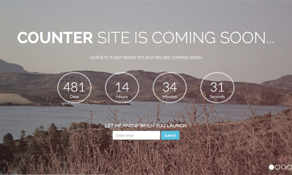 Counter Free Bootstrap Theme