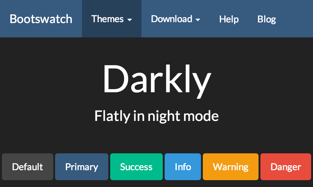 Darkly Free Bootstrap Theme