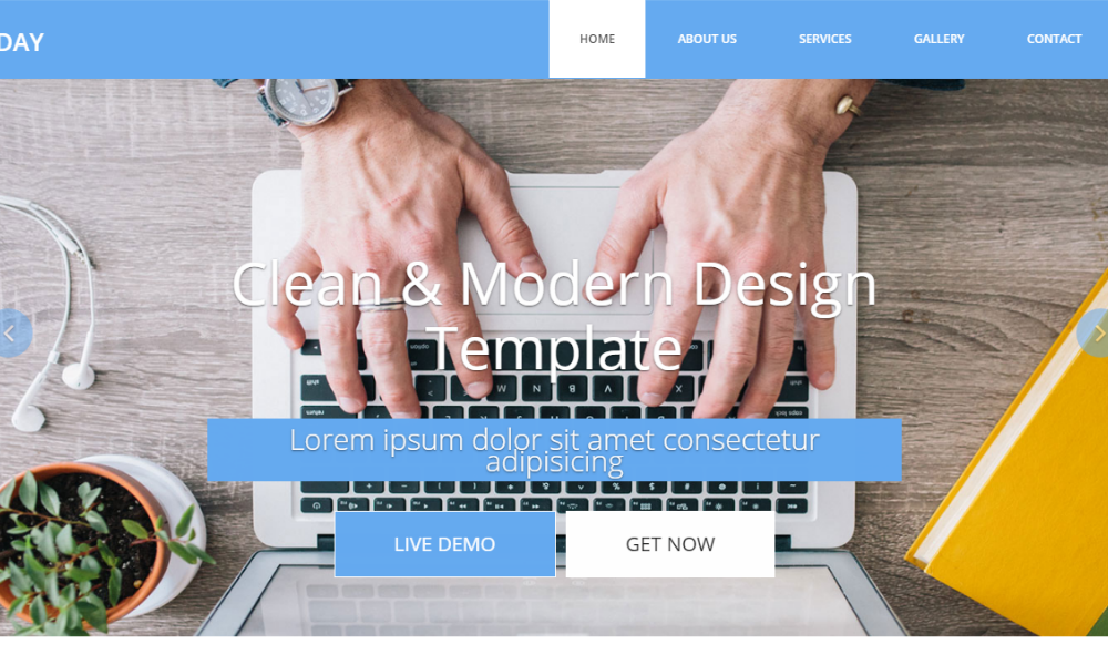Day Free Bootstrap Theme