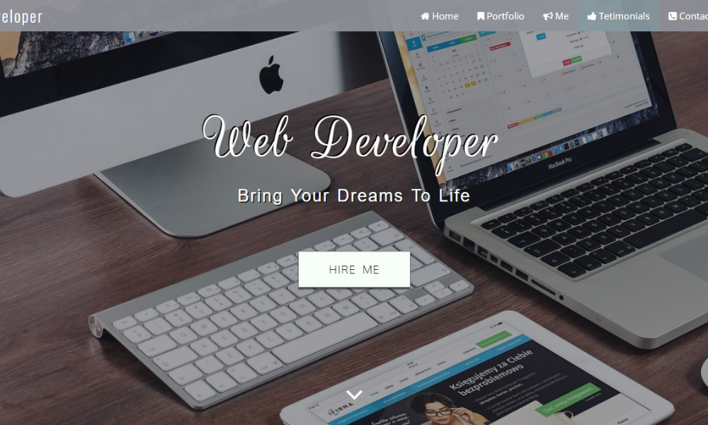 Developer  Free Bootstrap Theme
