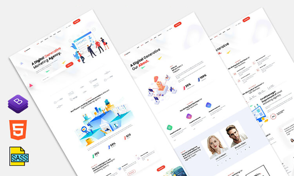DigiMark Free Bootstrap Theme
