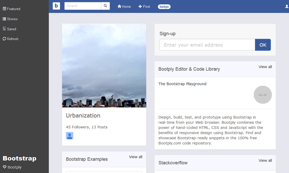 facebook-bootstrap-theme