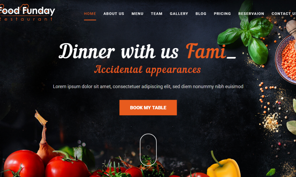 Food Funday Free Bootstrap Theme