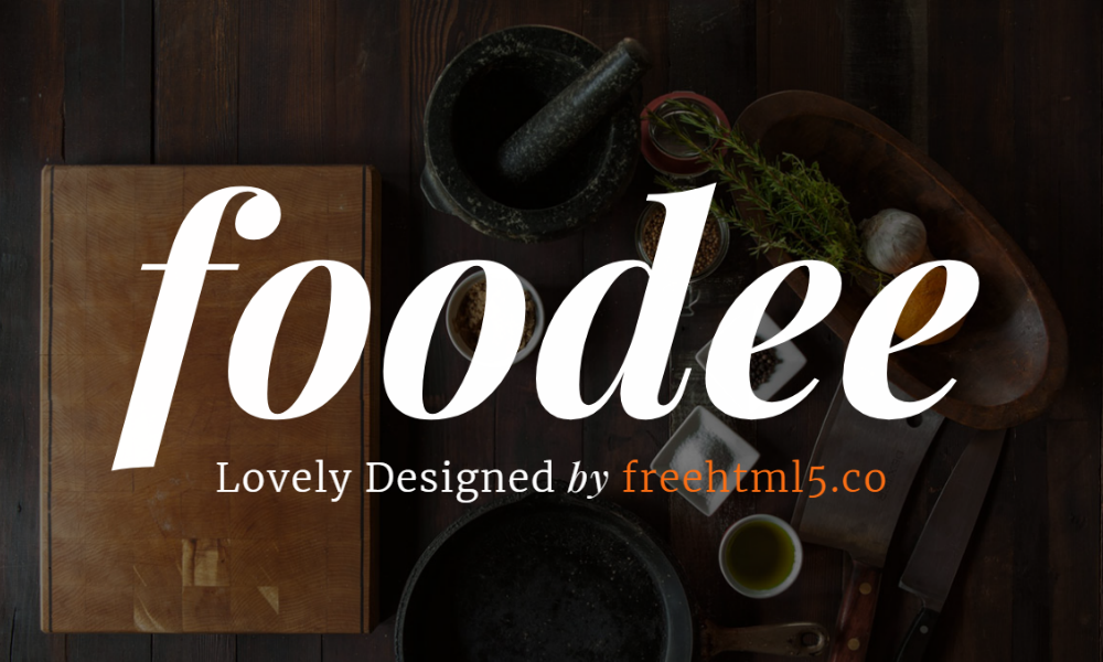 Free Bootstrap Theme - Foodee