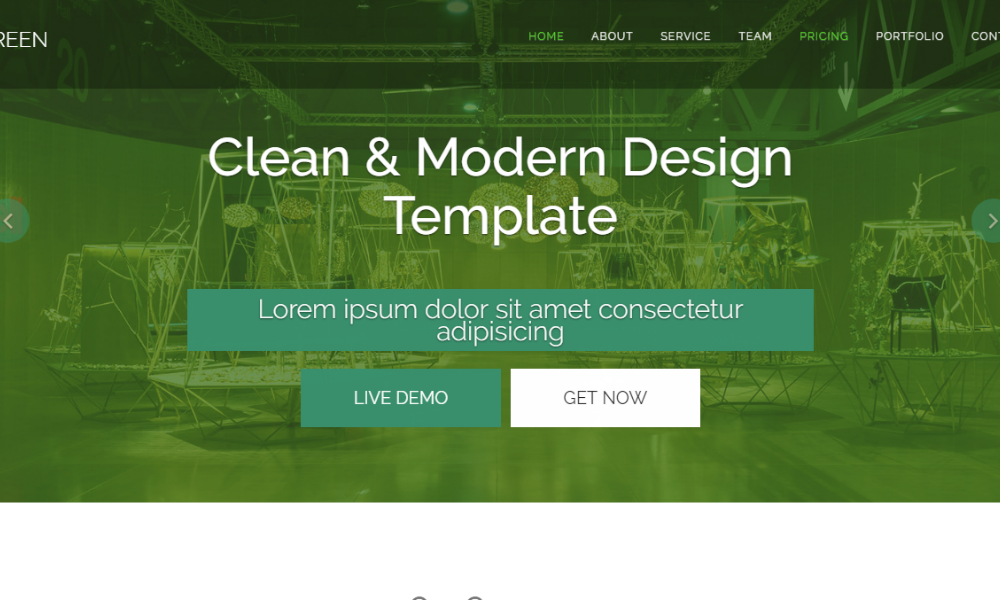 Green Free Bootstrap Theme