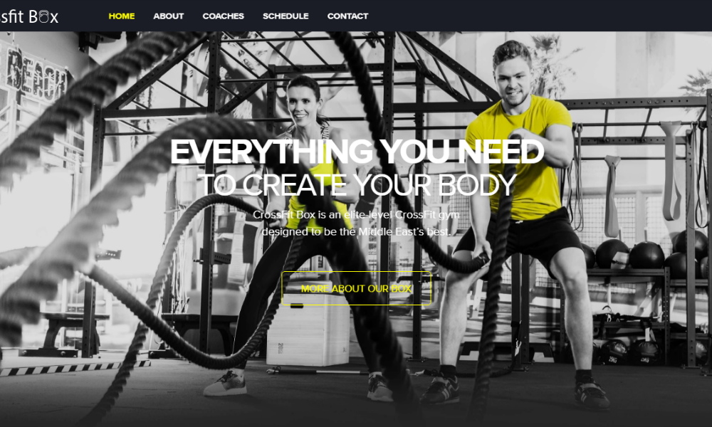 Free Bootstrap Theme - Gym