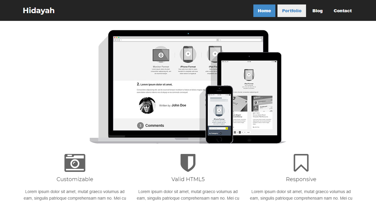 Free Bootstrap Theme - Hidayah