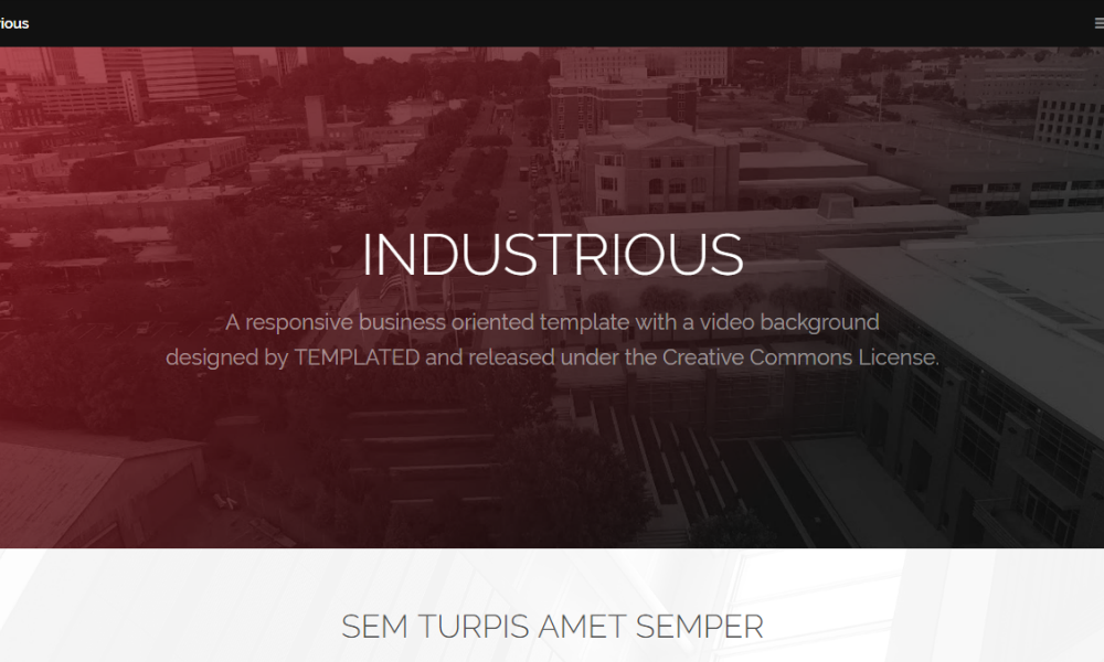 Industrious Free Bootstrap Theme