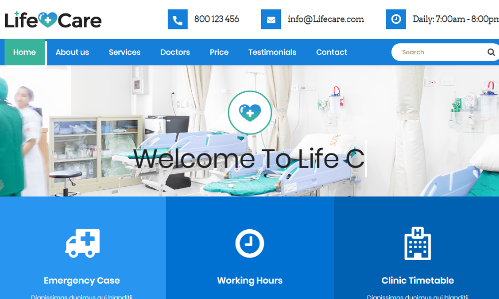 Free Bootstrap Theme - Life Care