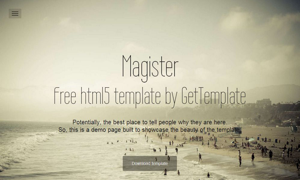 Free Bootstrap Theme - Magister