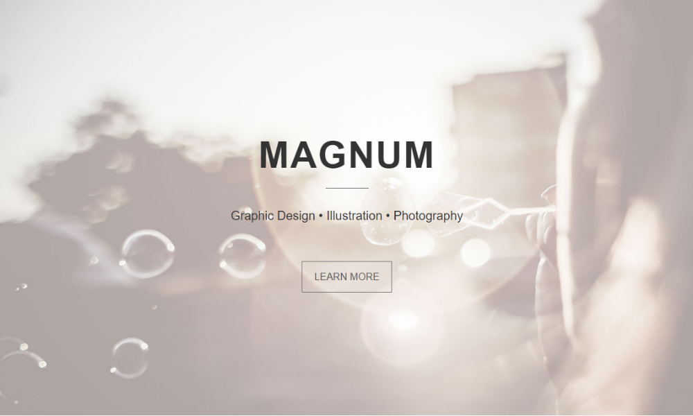 Free Bootstrap Theme - Magnum Master