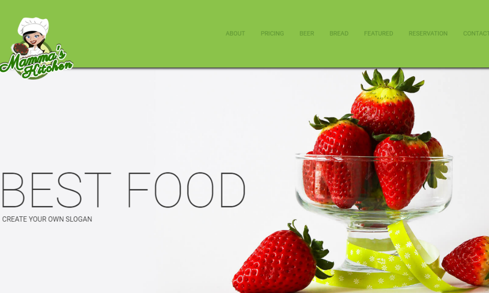 Mammas Kitchen Free Bootstrap Theme