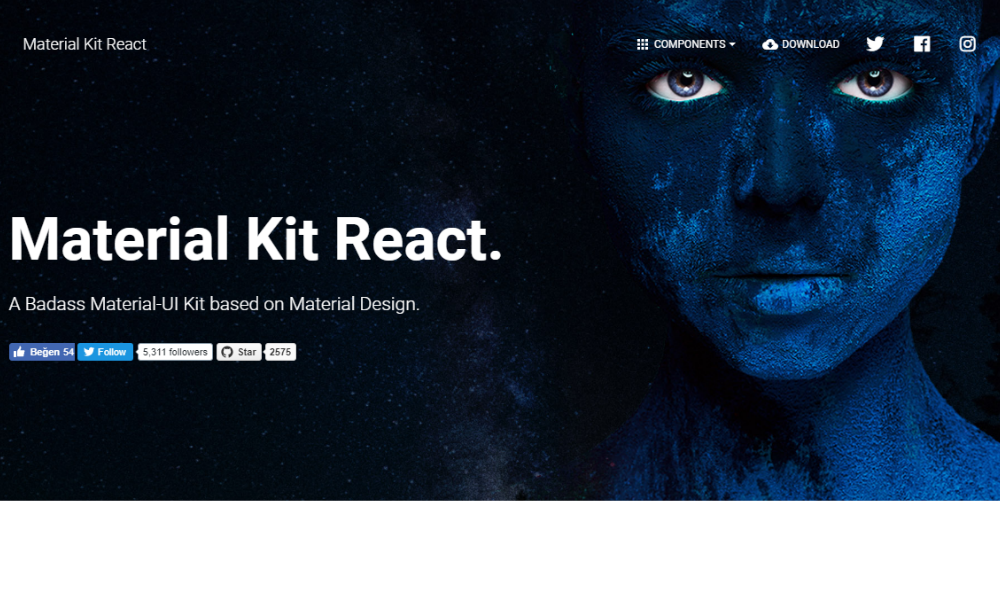 Free Bootstrap Theme - Material Kit React