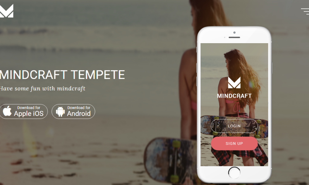 Mind Craft Free Bootstrap Theme
