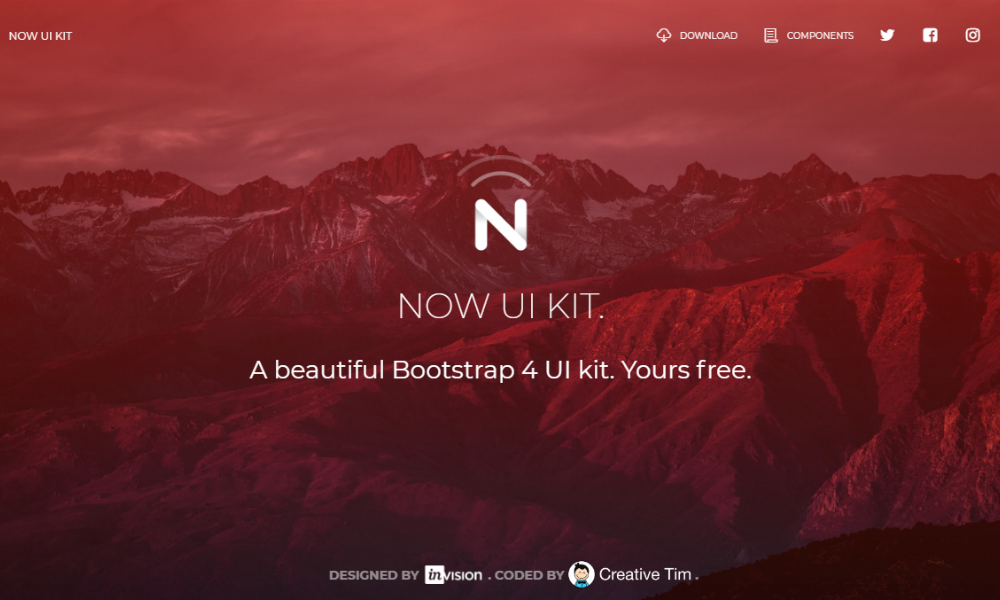 Free Bootstrap Theme - Now UI Kit