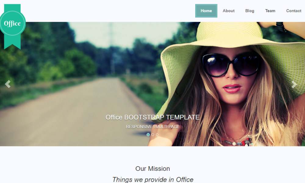 Office Free Bootstrap Theme