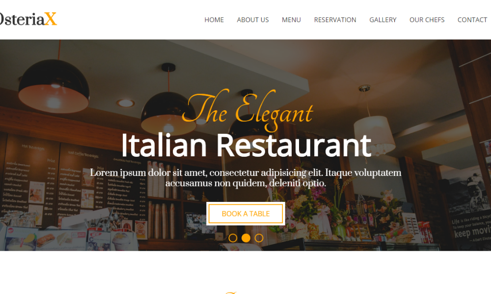 Free Bootstrap Theme - Osteriax Master