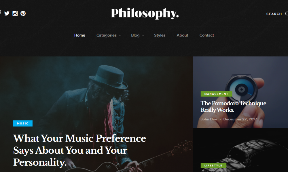 Free Bootstrap Theme - Philosophy