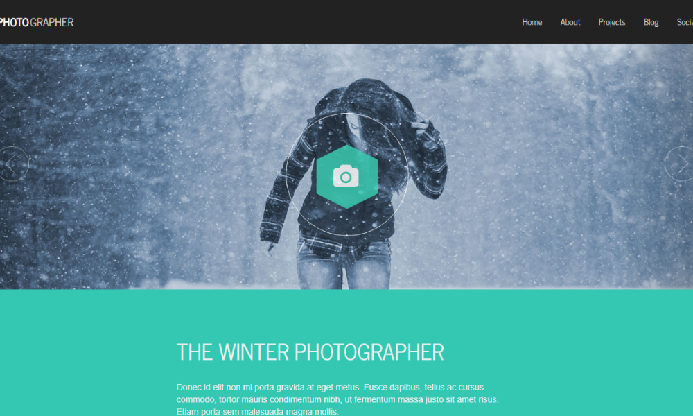 Free Bootstrap Theme - Photographer