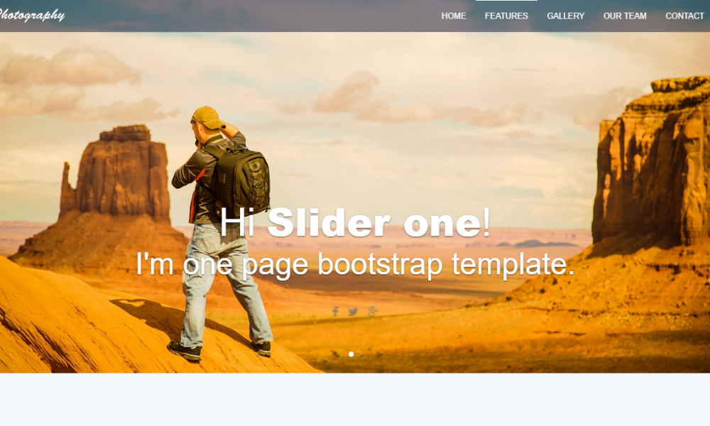 Free Bootstrap Theme - Photography