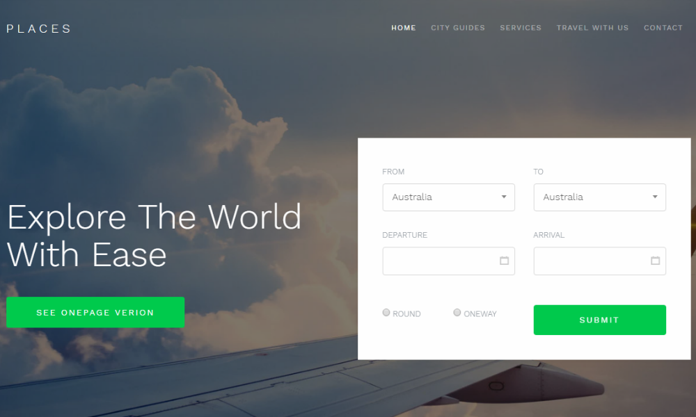 Free Bootstrap Theme - Places