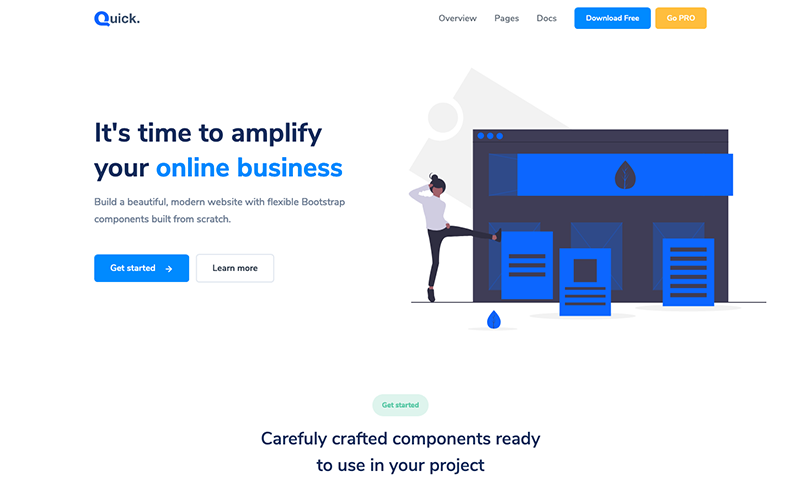 Free Bootstrap Theme - Quick