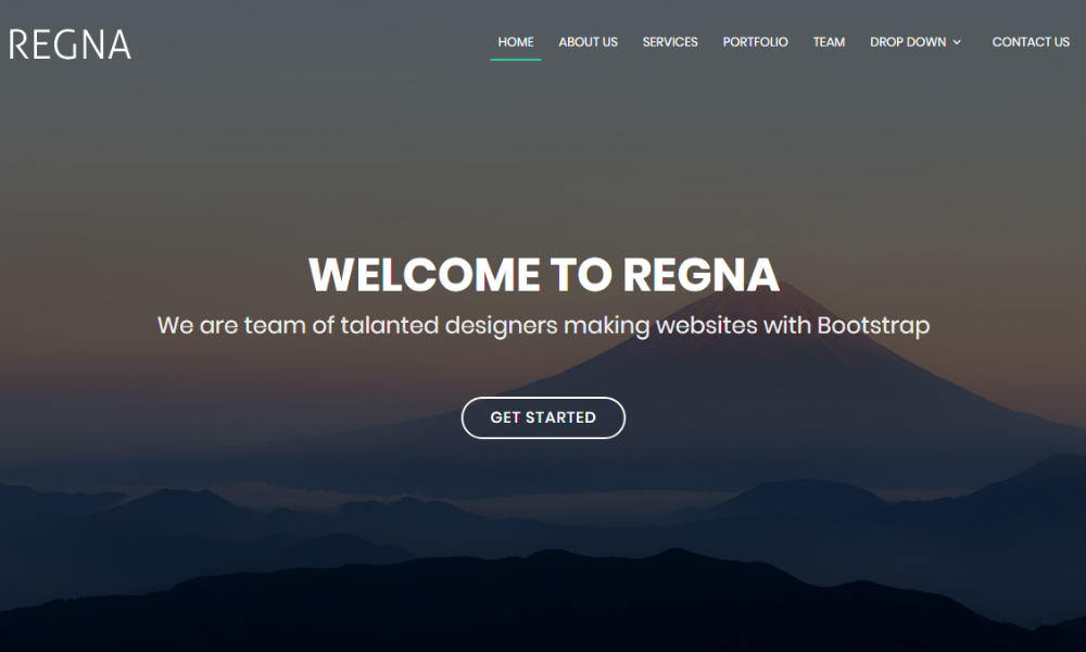Free Bootstrap Theme - Regna
