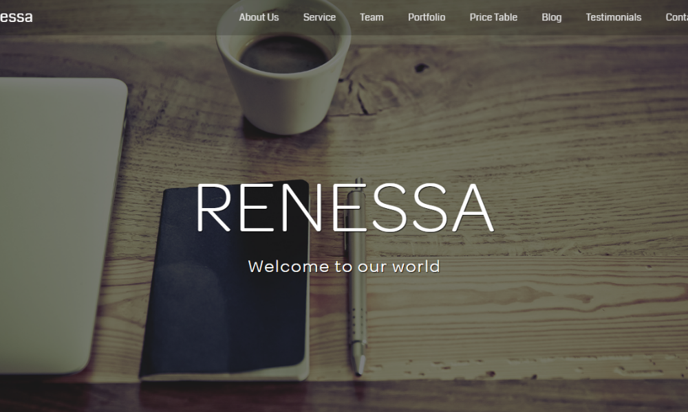 Renessa Free Bootstrap Theme
