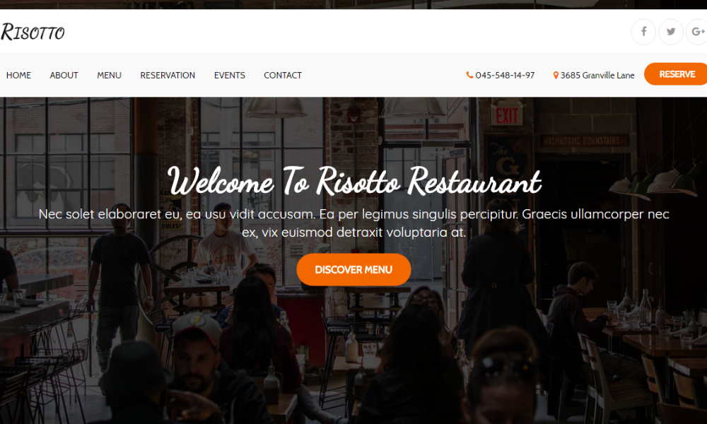 Risotto Free Bootstrap Theme