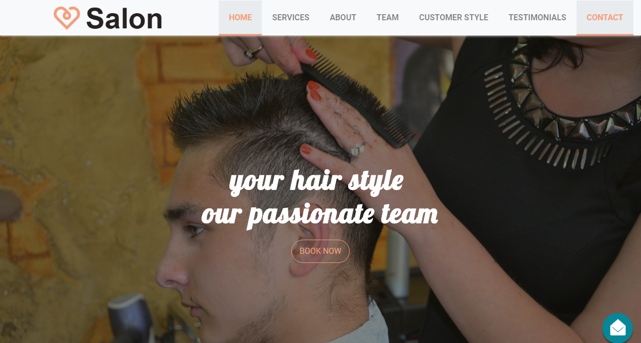Free Bootstrap Theme - Beauty Salon