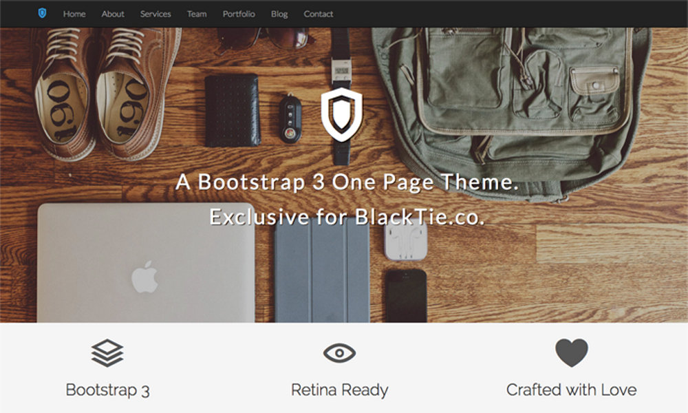 Shield Free Bootstrap Theme