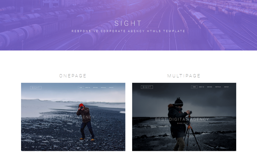 Sight Free Bootstrap Theme
