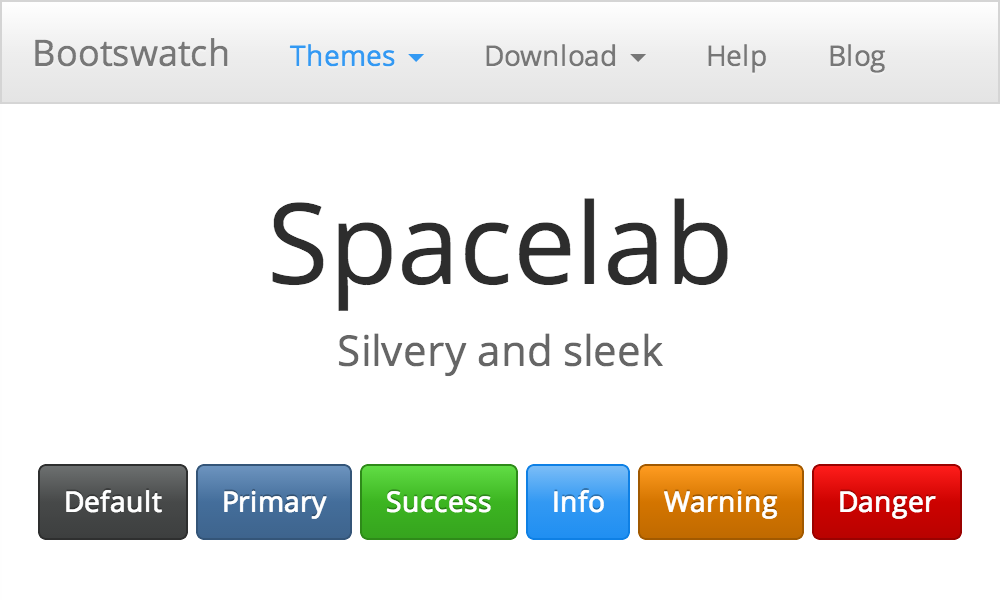 Spacelab Free Bootstrap Theme