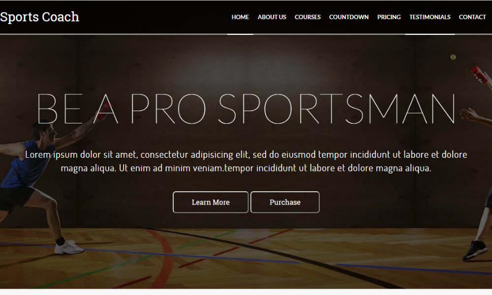 Sports Coach Free Bootstrap Theme