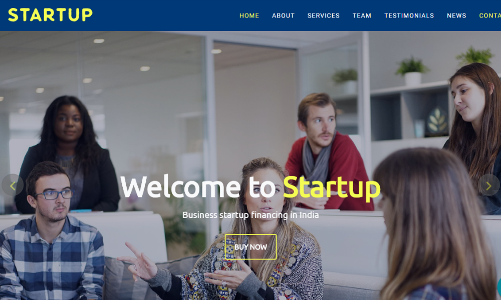 Start Up Free Bootstrap Theme