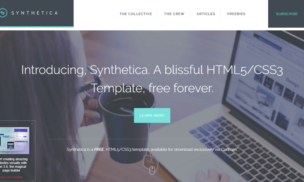 Synthetica Free Bootstrap Theme