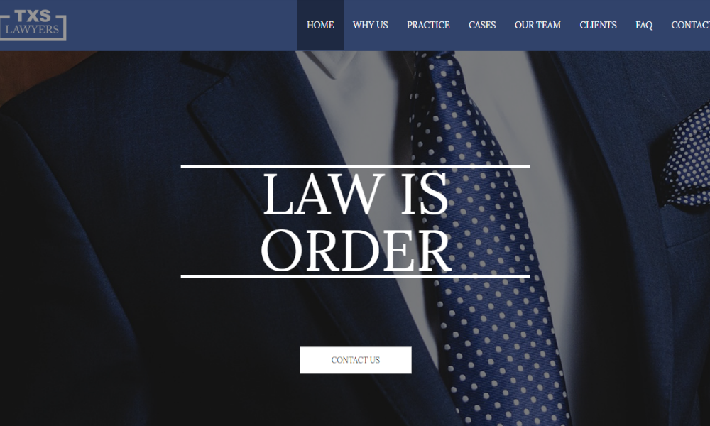 Texas Lawyer Free Bootstrap Theme