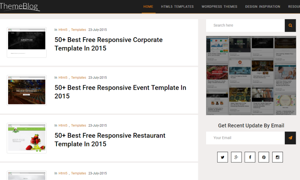 Theme Blog Free Bootstrap Theme
