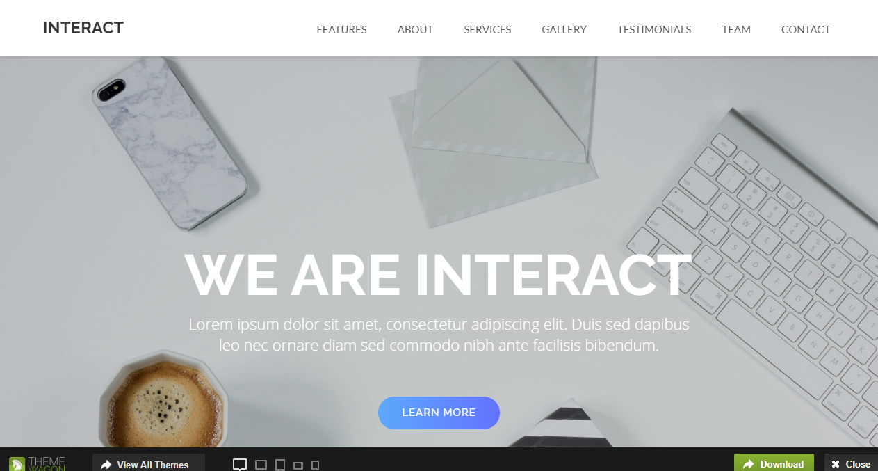 Interact Free Bootstrap Theme